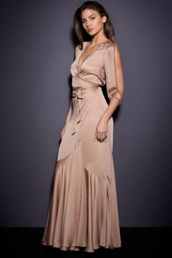 Cheap Women Beaded Elegant Evening Gowns