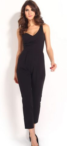 High Quality Backless Black One Shoulder Jumpsuit