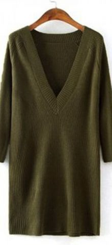 V-Neck Ribbed Pullover Cardigan Seaters For Women
