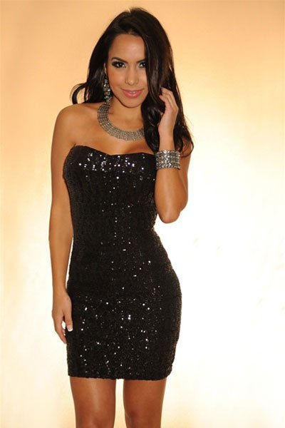 Black Strapless Club Dresses