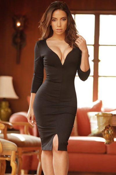 Long Sleeve Black Lace Mini Dressmeta Namekeywords Content