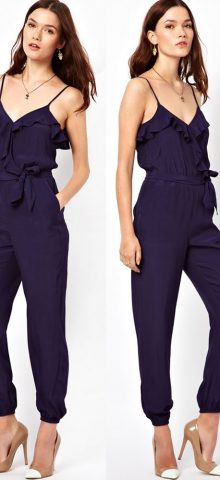 Women and Ladies Blue Dressy Jumpsuits