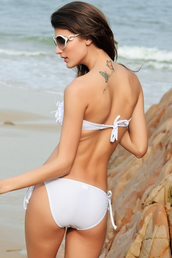 Beach Dresses Tweens Bandeau White Bikinis For Sale