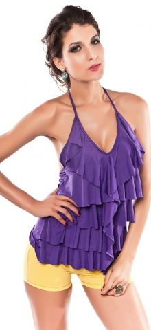 Purple Halter Top Seductive Dresses For Women