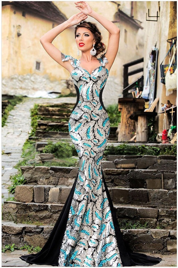 2014 mermaid prom dresses