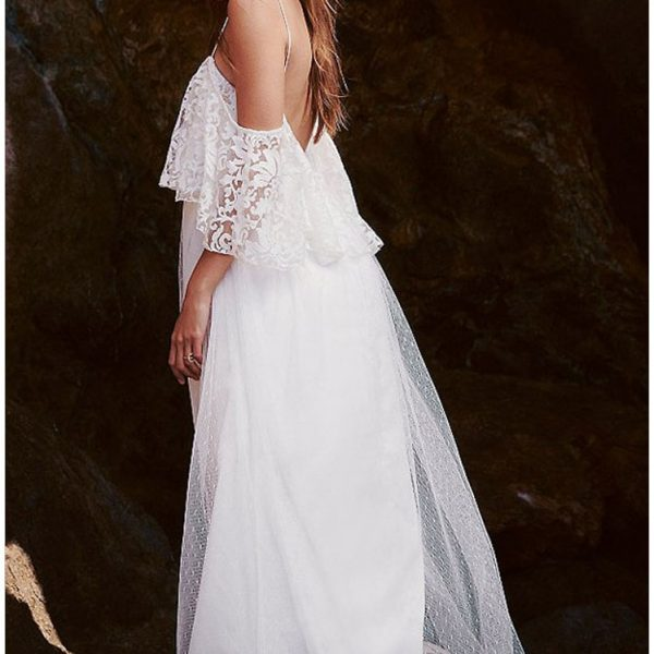 Vintage Wedding Dresses Usa: Beautiful Elegant Bride White Lace Wedding Dress