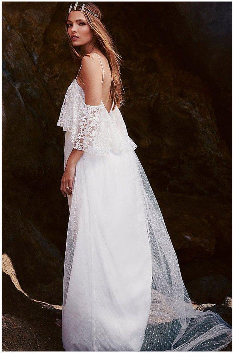 Beautiful Elegant Bride White Lace Wedding Dress - Online Store for Women Sexy Dresses