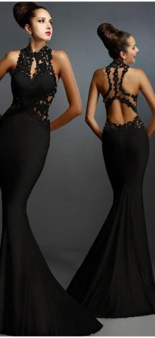 Best Sleeveless Mermaid Formal Long Black Dress