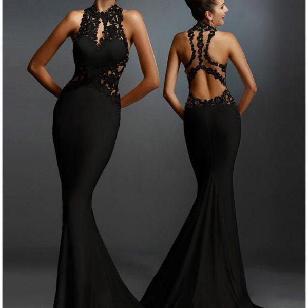 Best Sleeveless Mermaid Formal Long Black Dress Online Store For