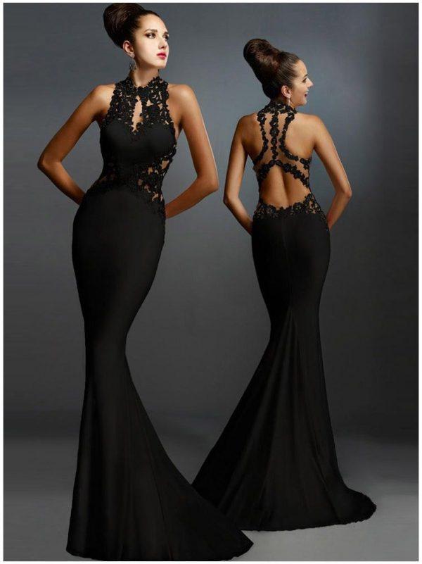 Best Sleeveless Mermaid Formal Long Black Dress