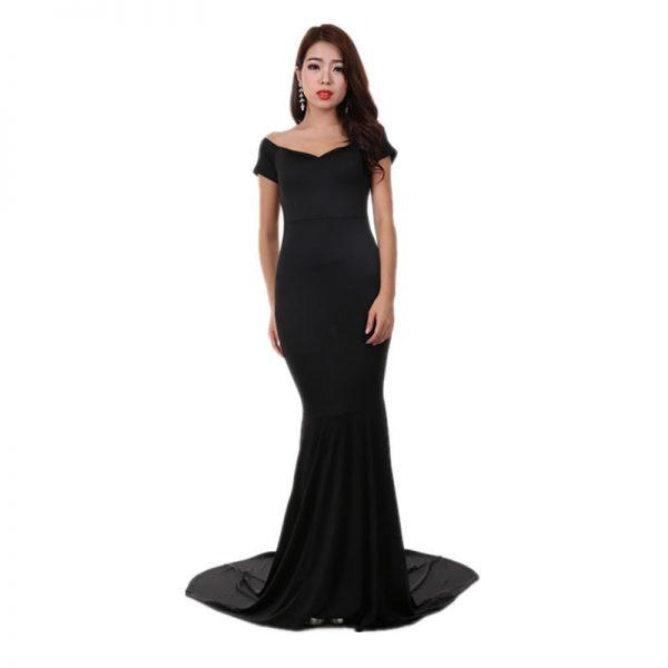 Black Elegant Women Long Formal Dresses Online Store For Women