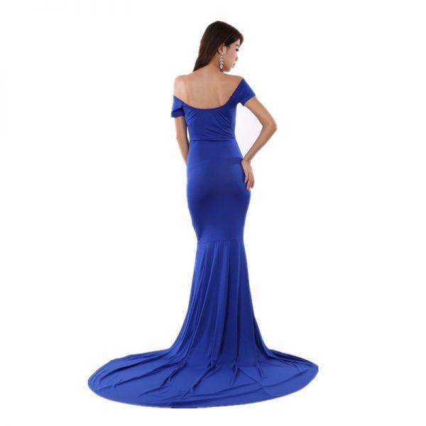 Blue Elegant Women Long Formal Dresses