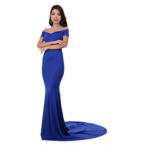 Blue Elegant Women Long Formal Dresses Online Store For Women Sexy