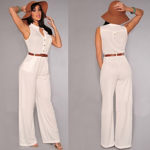 Ladies White Jumpsuits Photo Album - Reikian