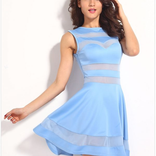 Cheap Mesh Blue Short Sexy Night Out Dresses Online