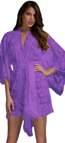 Cheap Purple Summer Women Silk Cute Pajamas
