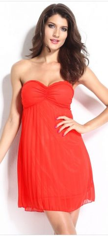 Cheap Sexy Sleeveless Short Orange Cocktail Dress