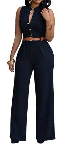 Cheap Sleeveless Black Jumpsuits For Women