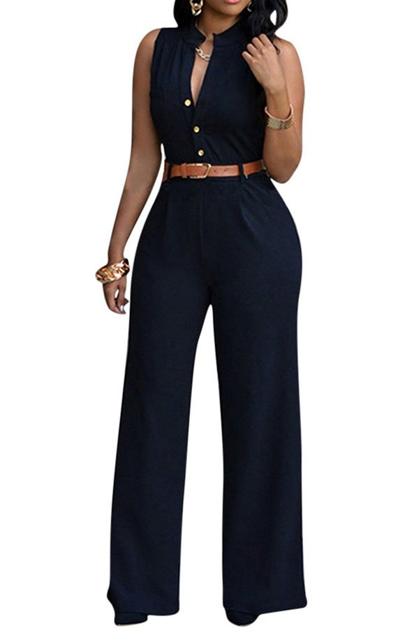 The pure color jumpsuits for woman will show your good fashion tastes and catch many people's eyes. One piece jumpsuits can match well with your lovely high heels. It is easy for you to stand out from the crowd by wearing the fashion jumpsuits.