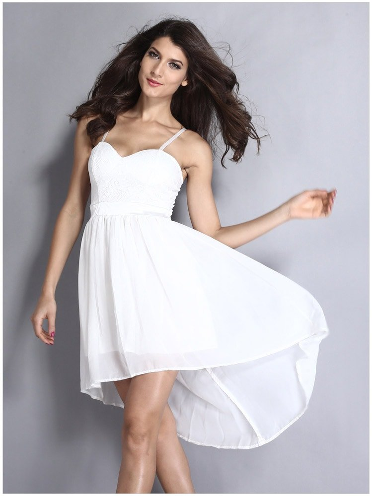 cheap sleeveless lace short white graduation dresses