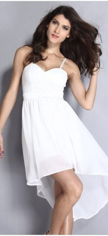 Cheap Sleeveless Lace Short White Graduation Dresses