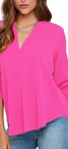 Cheap Women Summer Rosy Long Sleeve Blouses