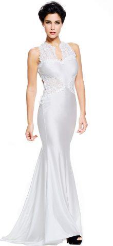 Elegant Long Wedding Lace White Bridesmaid Dresses