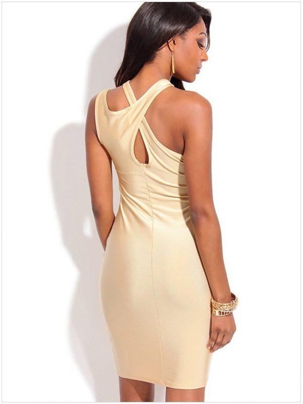 Off Shoulder Women Champagne Club Party Dresses