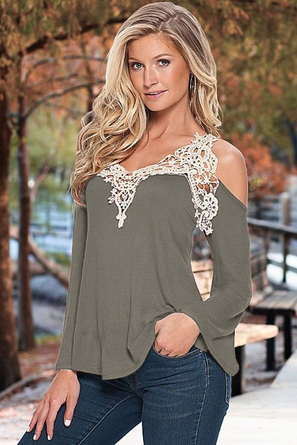 1af35aaed9de Off The Shoulder Gray Women Going Out Tops - Online Store for Women ...