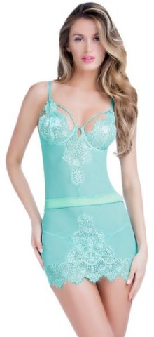 Sexy Sleeveless Lace Blue Nightwear For Women