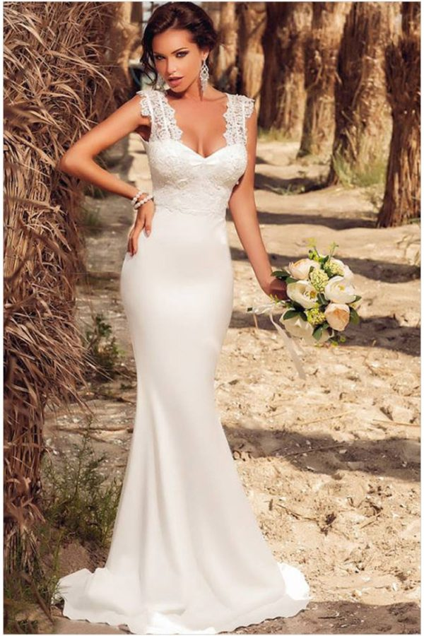 Under 100 Cheap Modest White Lace Bridesmaid Dresses