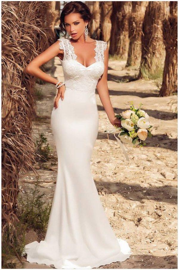 Under 100 Cheap Modest White Lace Bridesmaid Dresses Online Store