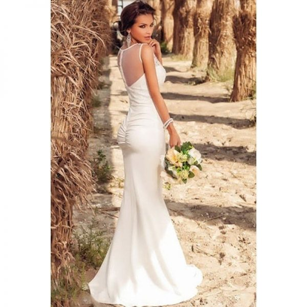 87c11f744f9be Under 100 Cheap Modest White Lace Bridesmaid Dresses - Online Store ...