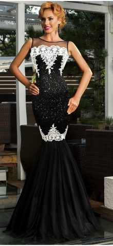 Women Long Black Amazing Mermaid Wedding Dresses