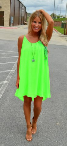 Women Sleeveless Casual Short Light Green Chiffon Dress