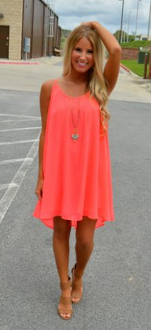 Women Strap Sleeveless Short Light Pink Chiffon Dress
