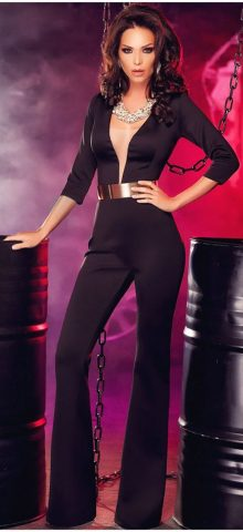 Women and Ladies Black One Piece Dressy Jumpsuits