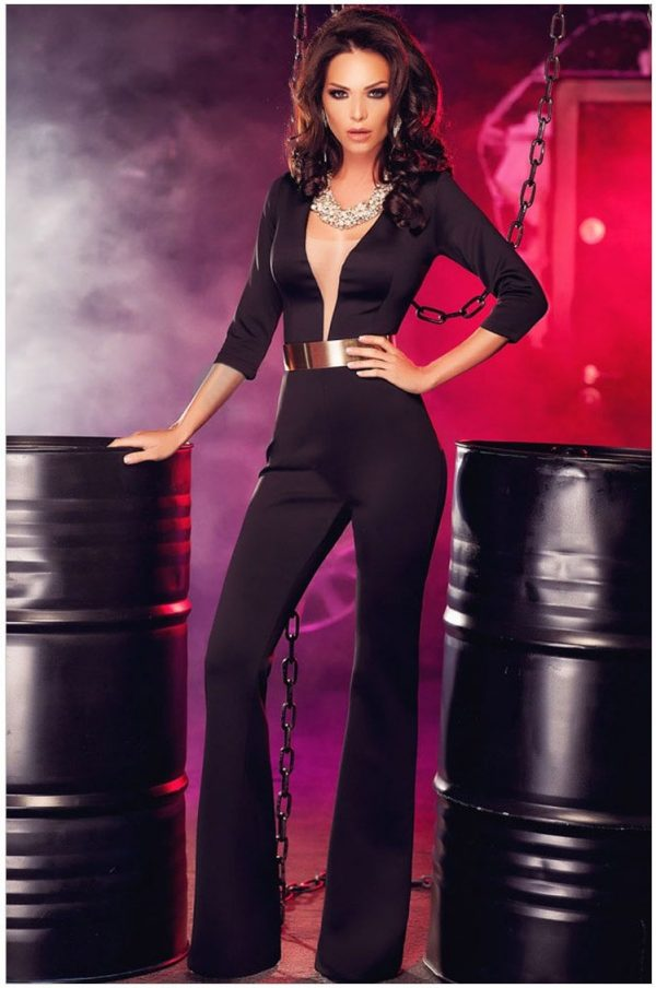 22afe19cc2924 Women and Ladies Black One Piece Dressy Jumpsuits - Online Store for ...