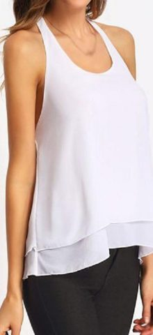 Women Halter White Off The Shoulder Blouse