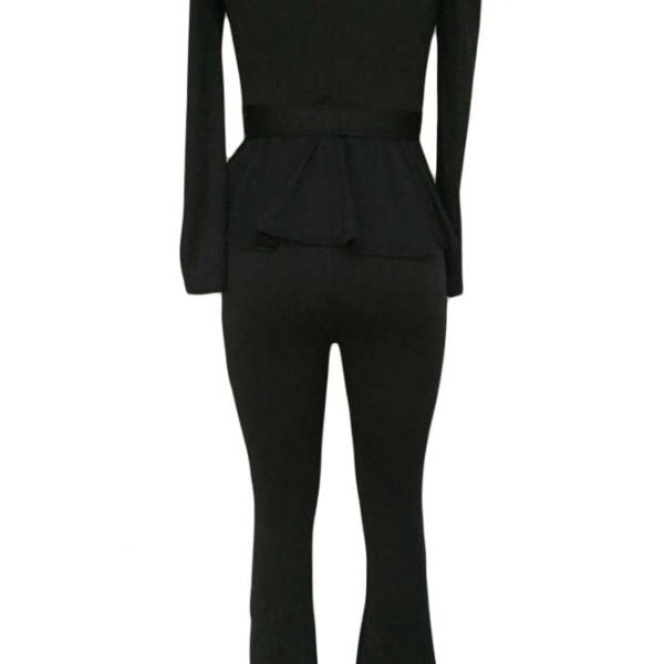 Business Elegant Women Black Dressy Pant Suits Online Store For