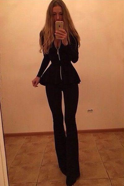 Business Elegant Women Black Dressy Pant Suits Online