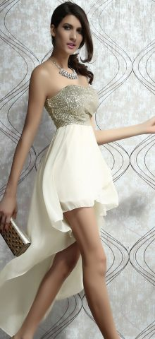 Charming Strapless Silver Sequin Cocktail Dresses