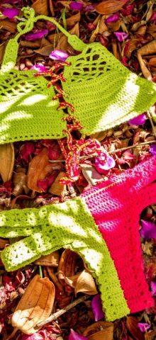 Delightful Handmade Girl Crochet Bathing Suit