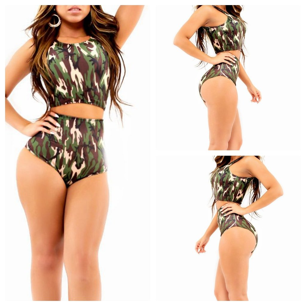 Shop for ACU CAMOUFLAGE M Halter Padded Camouflage Underwire Tankini Swimsuit online at $ and discover fashion at stilyaga.tknd: Rosegal.
