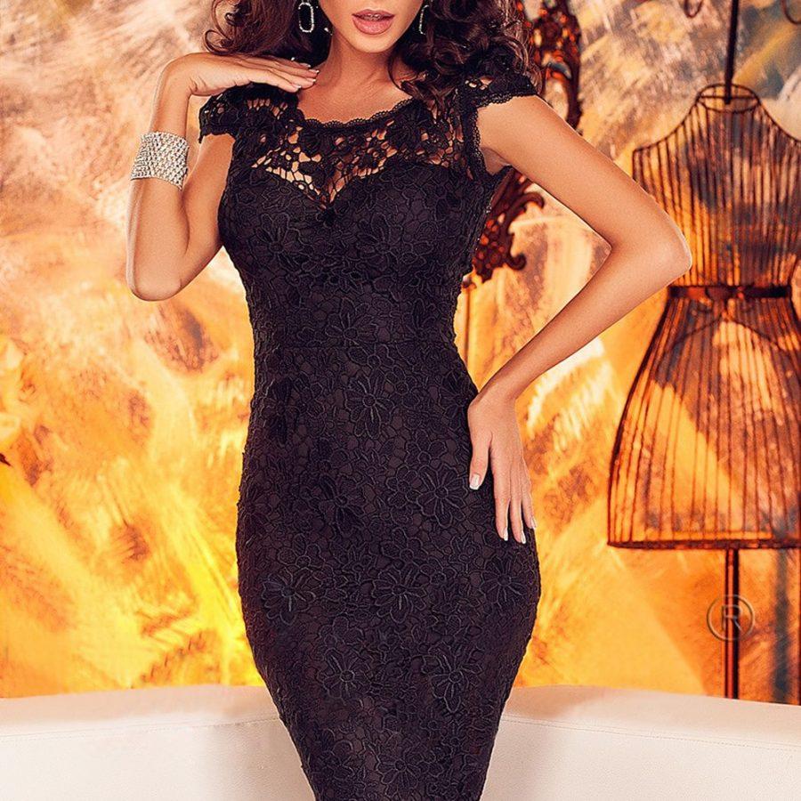 Sexy Black Lace Back Open Party Corset Dress - Online ...