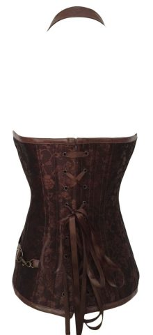 Women Halter Leather Corset Bondage