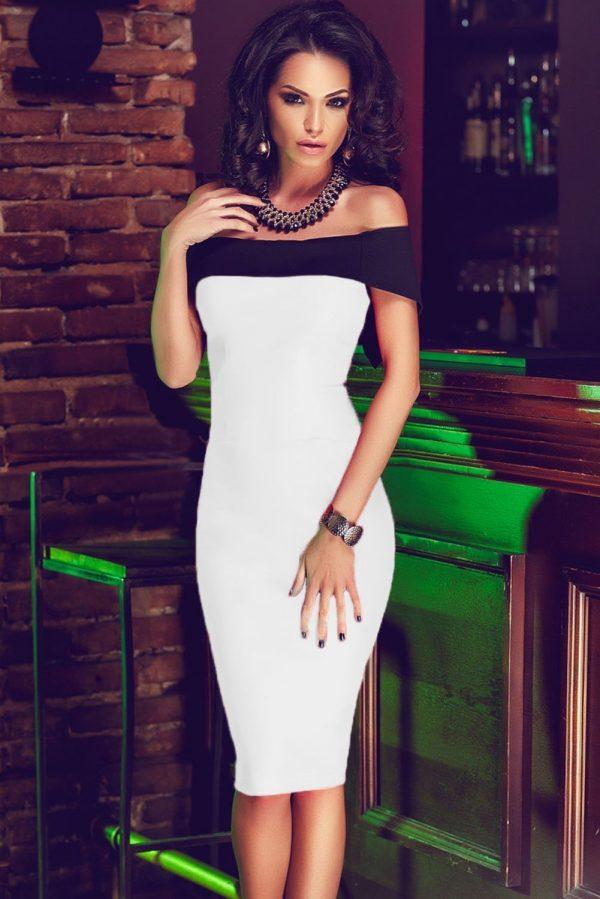 18e5e680f6c5 Women Off The Shoulder Mini White Bodycon Dress - Online Store for ...