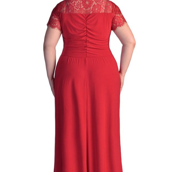 9fa797cad6 Women Ruched Twist High Waist Red Plus Size Gala Dresses - Online ...