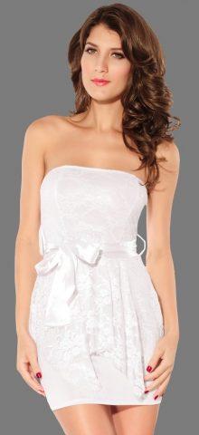 Women Sexy White Tight Boob Tube Dress