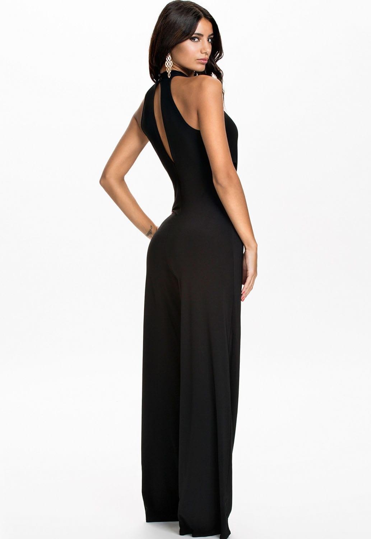 fe3cfc51dd1c2 Women Sleeveless Cut Outs Black Halter Top Jumpsuit (1) - Online ...
